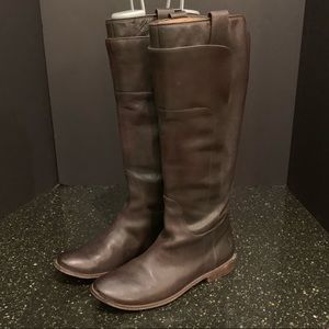 Frye Brown Leather Tall Boots